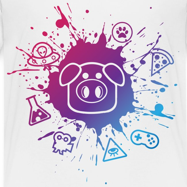 Children's Slapped Ham Paint Splat Tee