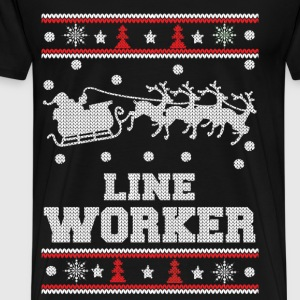 Line worker - Lineman Ugly christmas sweater - Men's Premium T-Shirt