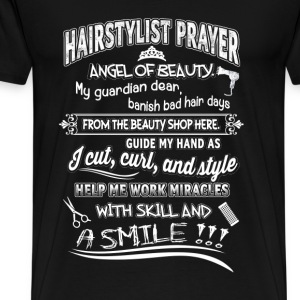 Hair stylist - Angel of beauty guide my hand tee - Men's Premium T-Shirt