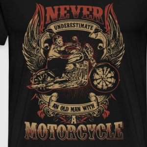 Motorcycle - Never underestimate an old motorcycle - Men's Premium T-Shirt