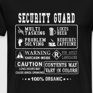 Security guard - Ugly t-shirt for security guard - Men's Premium T-Shirt