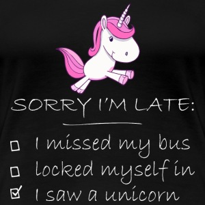 Unicorn - I saw an Unicorn cute funny t-shirt - Women's Premium T-Shirt