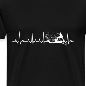 Surfing - Surfing heartbeat awesome t-shirt - Men's Premium T-Shirt
