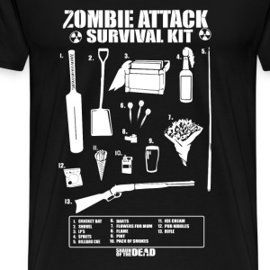 Zombie - Cool Zombie attack survival kit t-shirt - Men's Premium T-Shirt