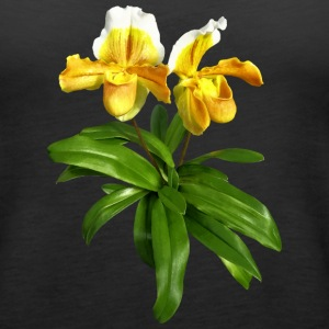 Two Yellow Slipper Orchids Tanks - Women's Premium Tank Top