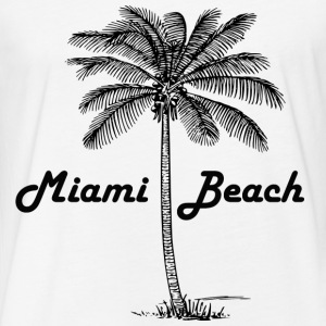 Miami Beach - Fitted Cotton/Poly T-Shirt by Next Level
