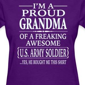 Proud Grandma Of A Freaking Awesome U.S. Soldier - Women's T-Shirt
