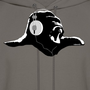 Silverback with headphones - Men's Hoodie