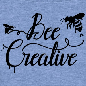 Bee Creative Long Sleeve Shirts - Women's Wideneck Sweatshirt