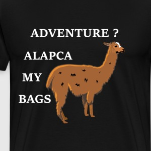 Adventure Alpaca My Bags Vacation Shirt Adventure  T-Shirts - Men's Premium T-Shirt
