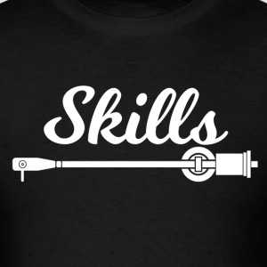 Skills Man Shirt White Font - Men's T-Shirt