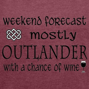 forecast - Outlander T-Shirts - Women´s Roll Cuff T-Shirt