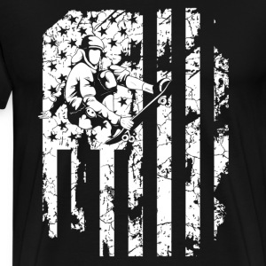 Skateboarding Flag Shirts - Men's Premium T-Shirt