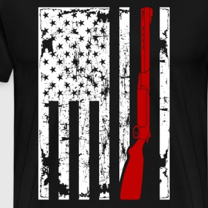 Sport Shooting Flag Shirt - Men's Premium T-Shirt