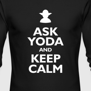 Keep Calm and Ask Yoda - Men's Long Sleeve T-Shirt by Next Level