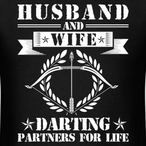 Husband And Wife Darting Partners - Men's T-Shirt