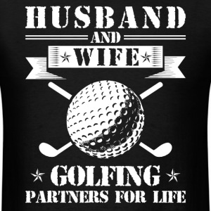 Husband And Wife Golfing Partners - Men's T-Shirt