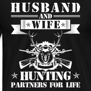 Husband And Wife Hunting Partners - Men's Premium T-Shirt