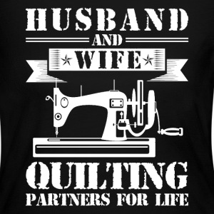 Husband And Wife Quilting Partners - Women's Long Sleeve Jersey T-Shirt