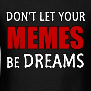 Mens Memes & Dreams T-Shirt: Red on Black - Men's T-Shirt