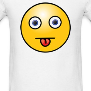 Cheeky Smiley Face - Men's T-Shirt