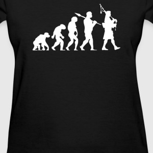 Evolution of a Scottish Bagpiper - Women's T-Shirt