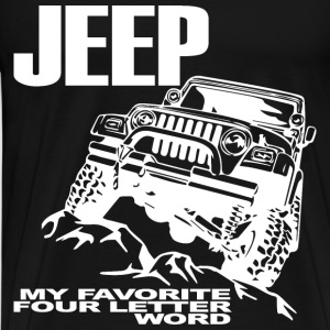 Jeep - 4 Letter Word - Men's Premium T-Shirt