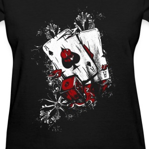 Poker Player Dbl Ace - Women's T-Shirt