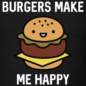 Burgers Make Me Happy - Men's T-Shirt