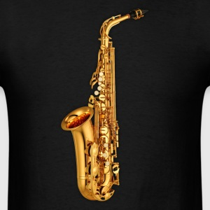 Golden saxophone - Men's T-Shirt