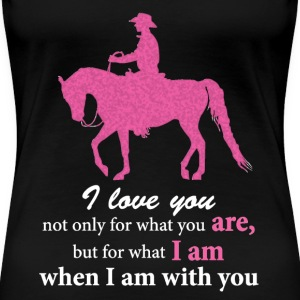 Women's Premium T-Shirt: Arabian Western Pleasure - Women's Premium T-Shirt