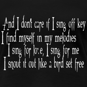 SIA - Bird Set Free (Lyrics) T-Shirts - Women's Premium T-Shirt