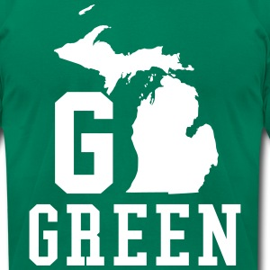 Go GREEN T-Shirts - Men's T-Shirt by American Apparel