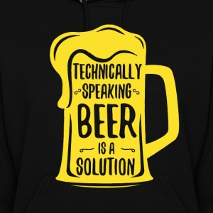 Beer Is A Solution Women's Beer Hoodies - Women's Hoodie