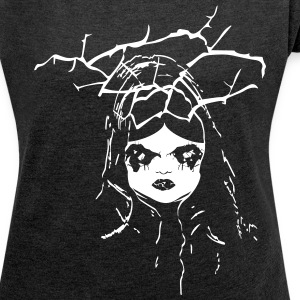 creepy dollface T-Shirts - Women´s Rolled Sleeve Boxy T-Shirt