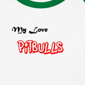 My love Pitbulls Baseball T-shirt - Baseball T-Shirt