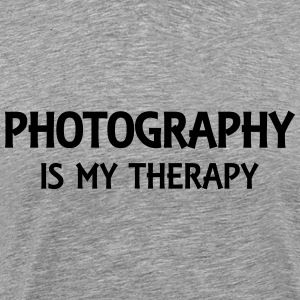 Photography is my therapy T-Shirts - Men's Premium T-Shirt