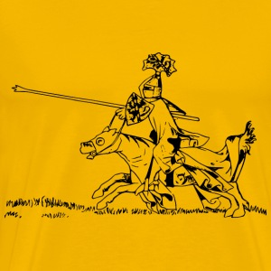 Jousting knight 2 - Men's Premium T-Shirt