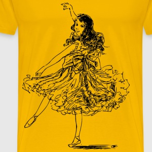 Girl dancing - Men's Premium T-Shirt