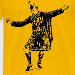 Scotsman dancing - Men's Premium T-Shirt