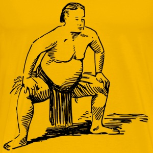 Sumo wrestler - Men's Premium T-Shirt