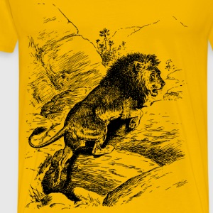 Lion 6 - Men's Premium T-Shirt