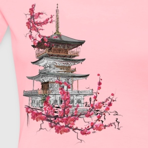 Pagoda and sakura T-Shirts - Women's Premium T-Shirt
