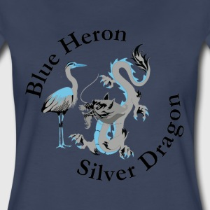 Blue Heron & Silver Dragon Graphic T-Shirts - Women's Premium T-Shirt