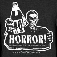 Design ~ Vintage T-Shirt - 40oz Of Horror Logo