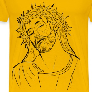 Jesus Crown Of Thorns Illustration - Men's Premium T-Shirt