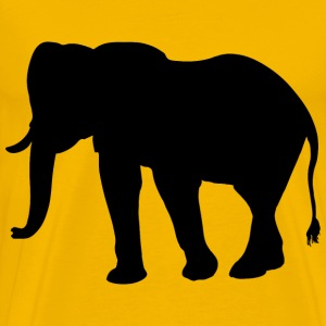 Elephant Silhouette Smoothed - Men's Premium T-Shirt
