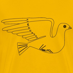 Stylized Dove Illustration - Men's Premium T-Shirt
