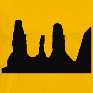 Monument Valley Silhouette - Men's Premium T-Shirt