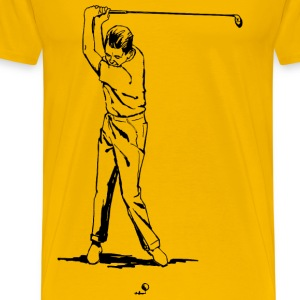 Golfer - Men's Premium T-Shirt